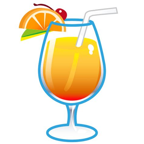 cocktail emoji tropical drink emoji for email sms id 413