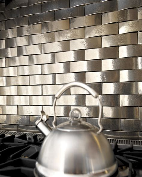 solid bronze tile backsplash over stove traditional