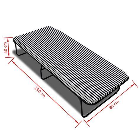 letto pieghevole con materasso letto pieghevole con materasso 190 x 80 x 40 cm vidaxl it