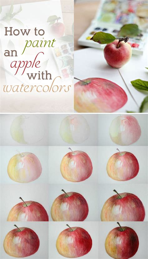 watercolor tutorial apple how to paint an apple with watercolors tutorials apples