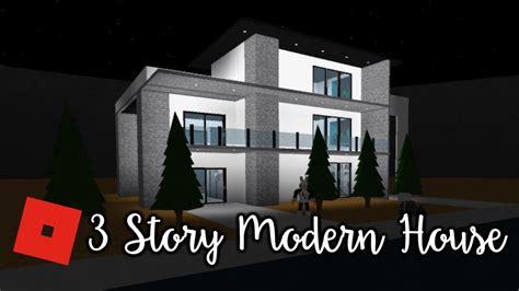 bloxburg modern  story house speed build
