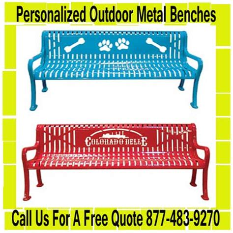 personalized outdoor benches metal benches