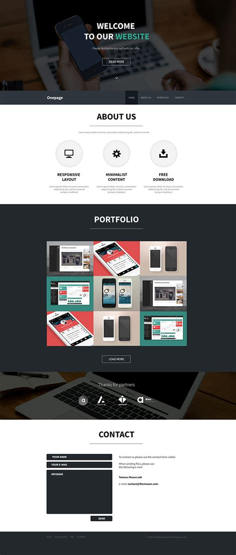 one page html5 responsive template free free html5 onepage responsive template creative alys