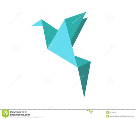Origami Bird That Flies - origami bird shape stock illustration image of print