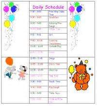 child care daily routine template sle daycare schedule i like the idea of using this