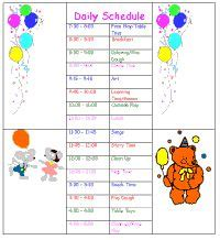 Sample daycare schedule i like the idea of using this as a sahm to