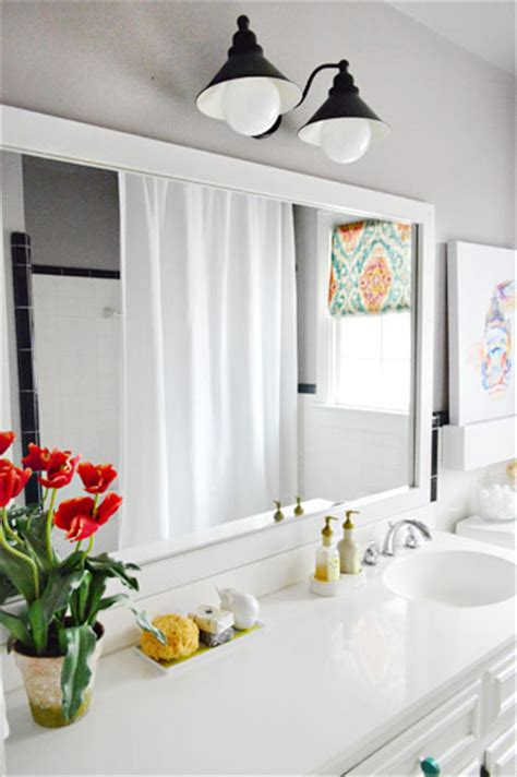 how to put up a bathroom mirror how to put a frame around bathroom mirror galleryimage co