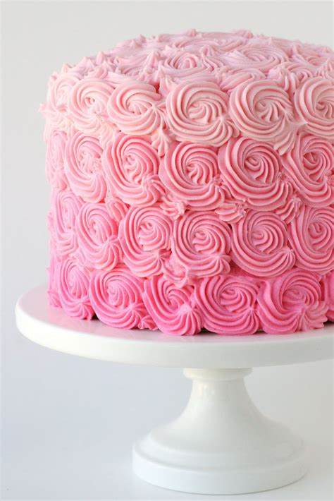 pink ombre swirl cake glorious treats