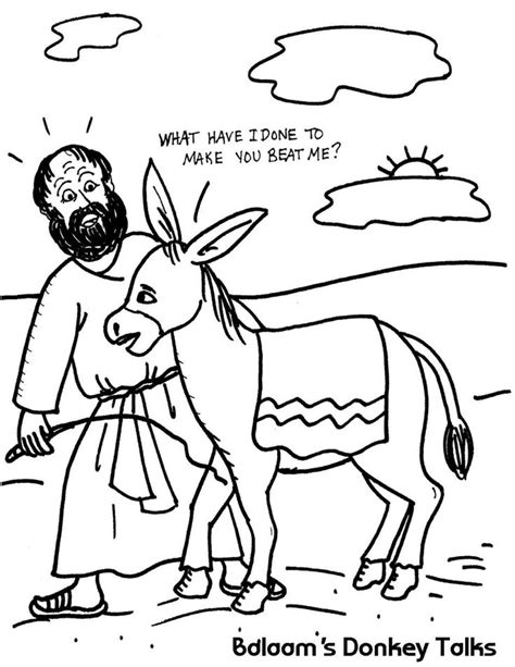 donkey coloring pages preschool 17 best images about balaam bible on pinterest sunday