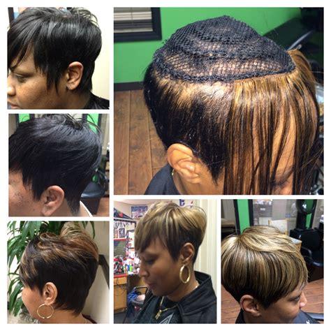 glue bob hair weave shorthair inspired by summer short crop sew ins no glue