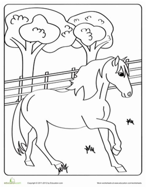 educational horse coloring pages trotting horse coloring page education com