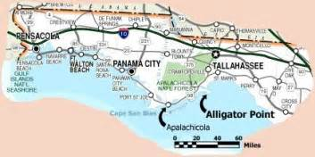 map of panhandle florida alligator point and map of florida
