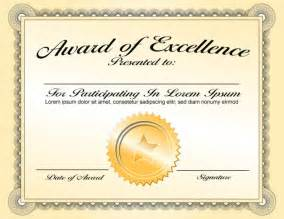 Sample Letter Certification Attendance best classy award of excellence certificate template with