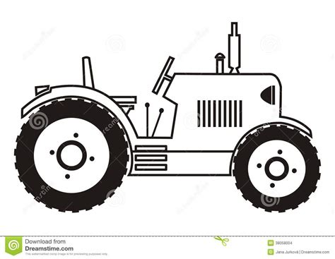 tractor coloring stock images image