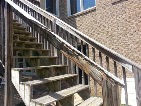 banister repair repair deck railing and stairs
