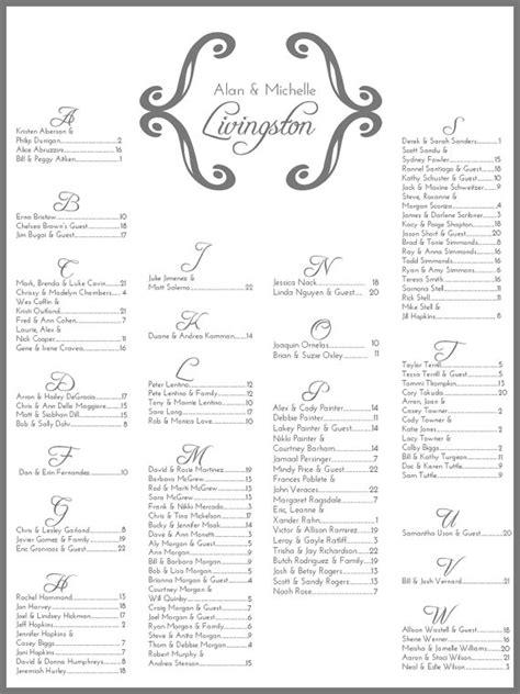 printable font chart wedding seating chart elegant printable by