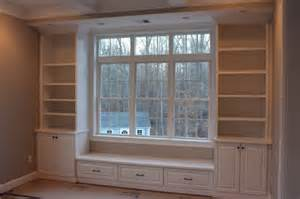bookcase bench seat built in bench bookcases custom home finish