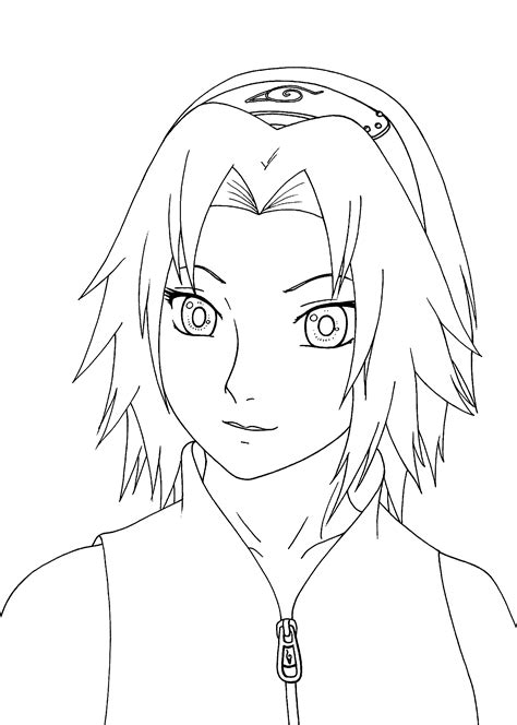 sakura haruno from naruto anime coloring pages for kids