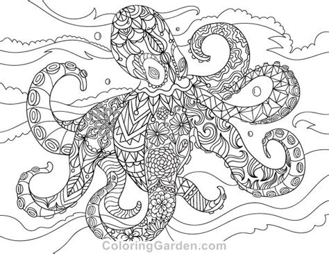 octopus coloring page adults free printable octopus adult coloring page download it in
