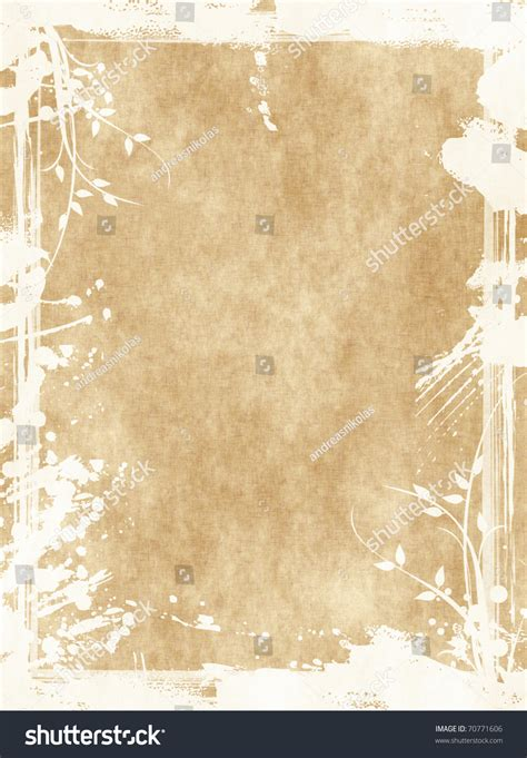 grunge floral parchment frame royalty free stock photos image 8762458 floral grunge frame on parchment paper with floral pattern foto d archivio 70771606