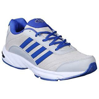 allen cooper sports shoes allen cooper s light grey and blue sport shoes buy