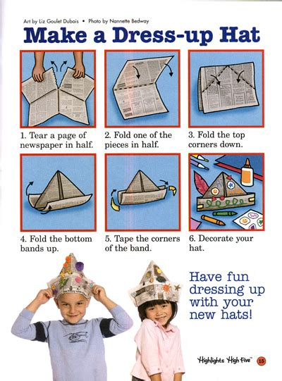 How To Make An Hat Out Of Paper - go ahead make my hat liz goulet dubois