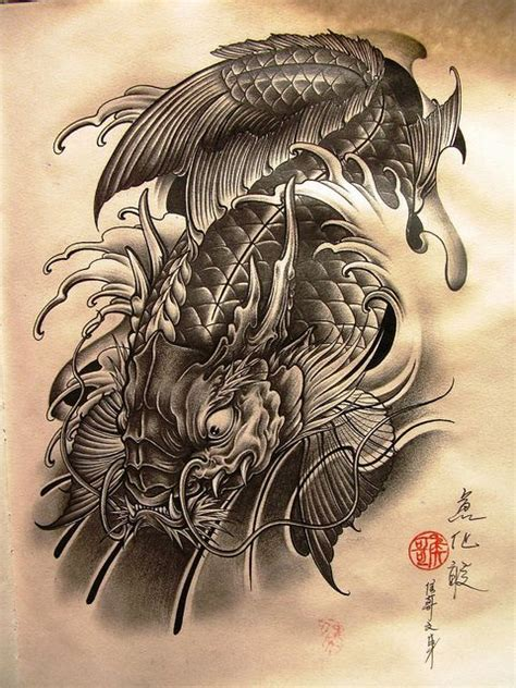 koi to dragon tattoo design 25 best ideas about koi on