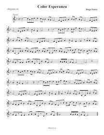Partitura de Canon de Pachelbel en Re para Flauta