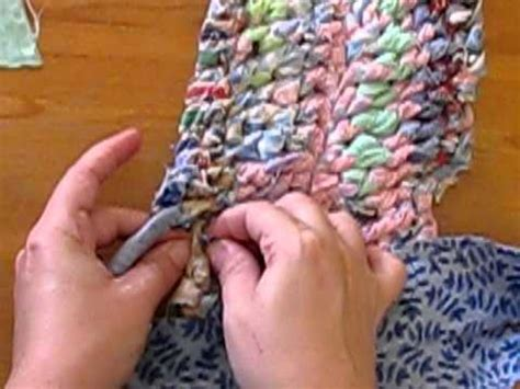 how to make an amish knot rug amish knot rag rug tutorial 2 of 2