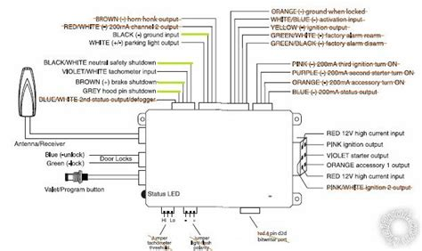 avital remote start wiring diagram 34 wiring diagram