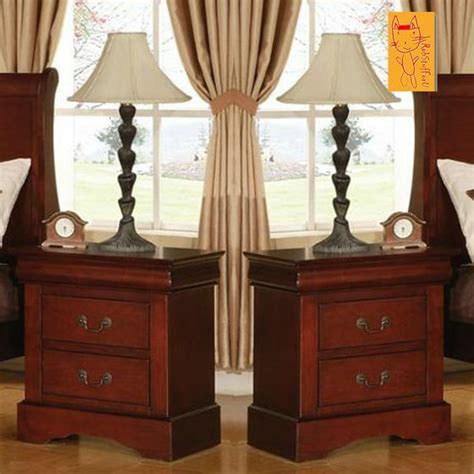 set    table nightstand bedroom furniture  drawers tables bed  ebay
