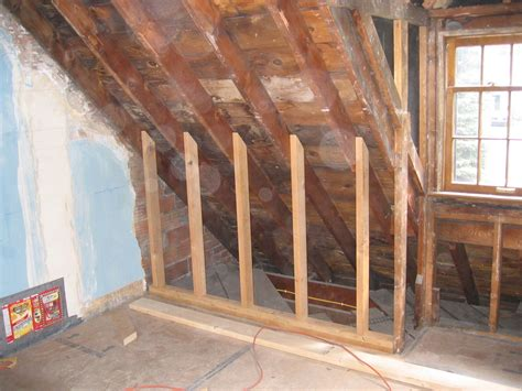 attic knee wall framing building knee walls related keywords building knee walls