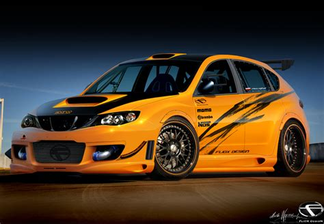 orange subaru impreza subaru impreza orange freak by fliox on deviantart