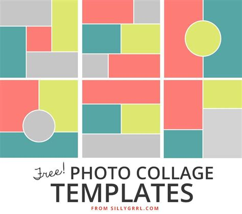 17 Best Images About Photo Collage Templates On Pinterest Collage Template Project Life And Free Picture Collage Template