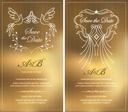 invitation card graphic design gold invitation vector free vector download 3 869 free