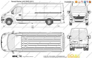Renault Master Length The Blueprints Vector Drawing Renault Master L4h2 Rwd