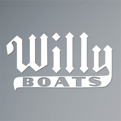 willie boats logo willy roberts vintage logo decal willy flats boats shop