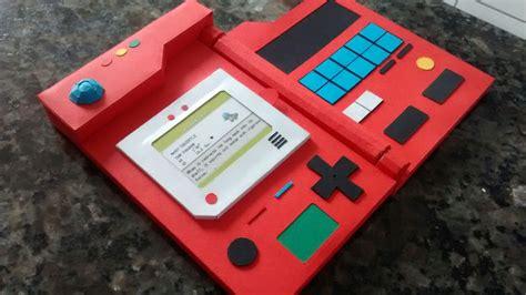 How To Make A Paper Pokedex - pokedex em papercraft comic box