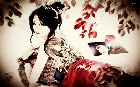 geisha tattoo wallpaper memory of geisha japanese actress or negative image for