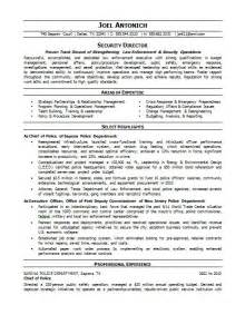 enforcement security resume careers done write