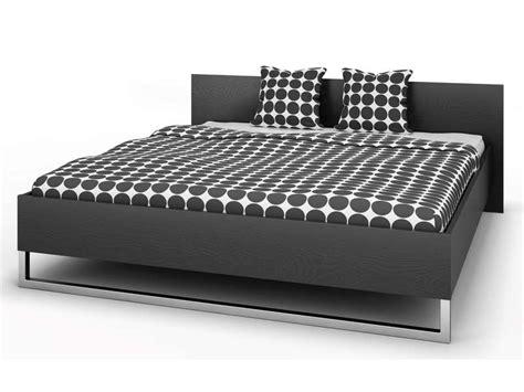 Lit 180x200 Ikea by Lit 180x200 Cm Style Coloris Noir Vente De Lit Adulte