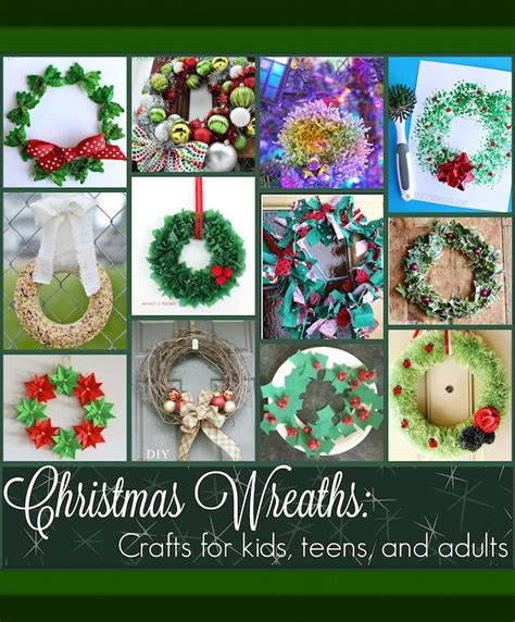 kids art christmas reefs wreath projects for and adults