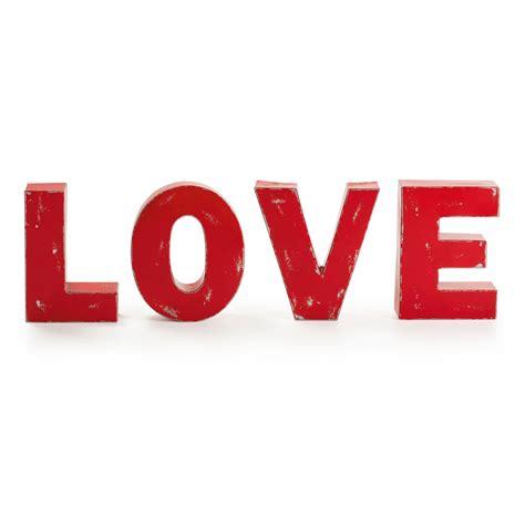 love letras decoracion letras decorativas love hierro rojo demarques