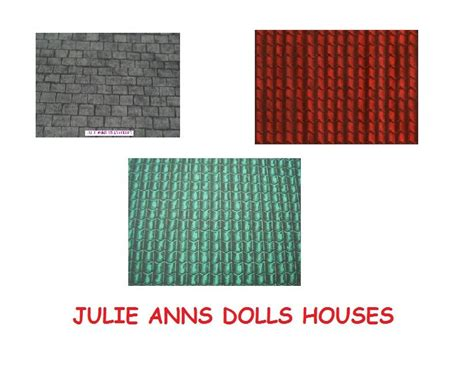 free dolls house wallpaper dolls house roof wallpaper 3 colours to choose from free delivery