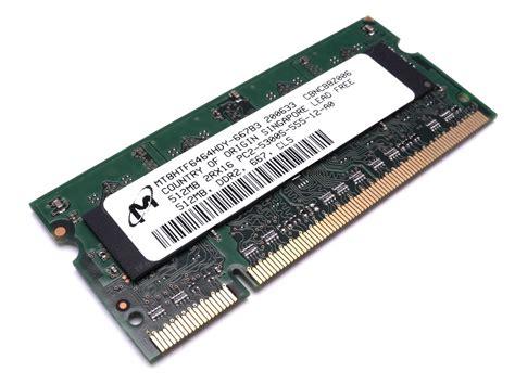 Sodim Ddr2 512 Mb barrette m 233 moire occasion pc portable micron so dimm