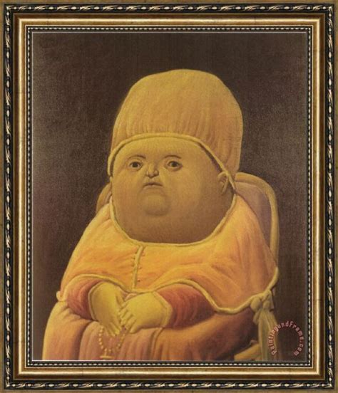 Painting Y Tho by Fernando Botero Pope Leo X After Raphael Framed Print