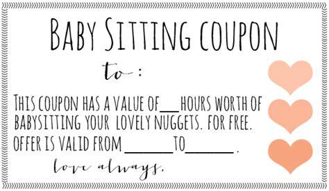 free night of babysitting coupon 2017 2018 best cars