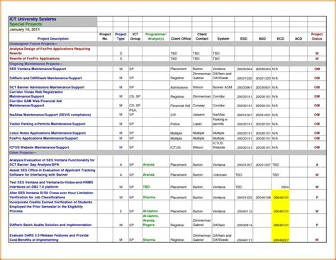 project tracking template project tracking template excel free