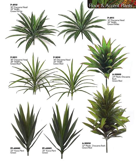 artificial like accent house plants