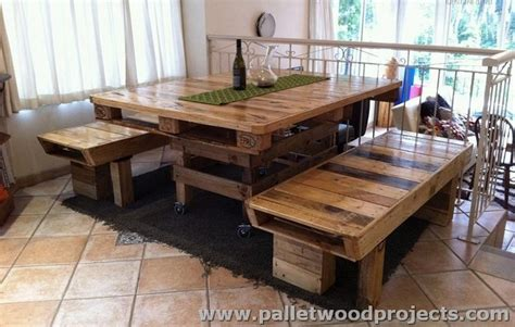 How To Make A Dining Room Table Out Of Pallets by Recycled Wood Pallet Furniture Plans Pallet Wood Projects